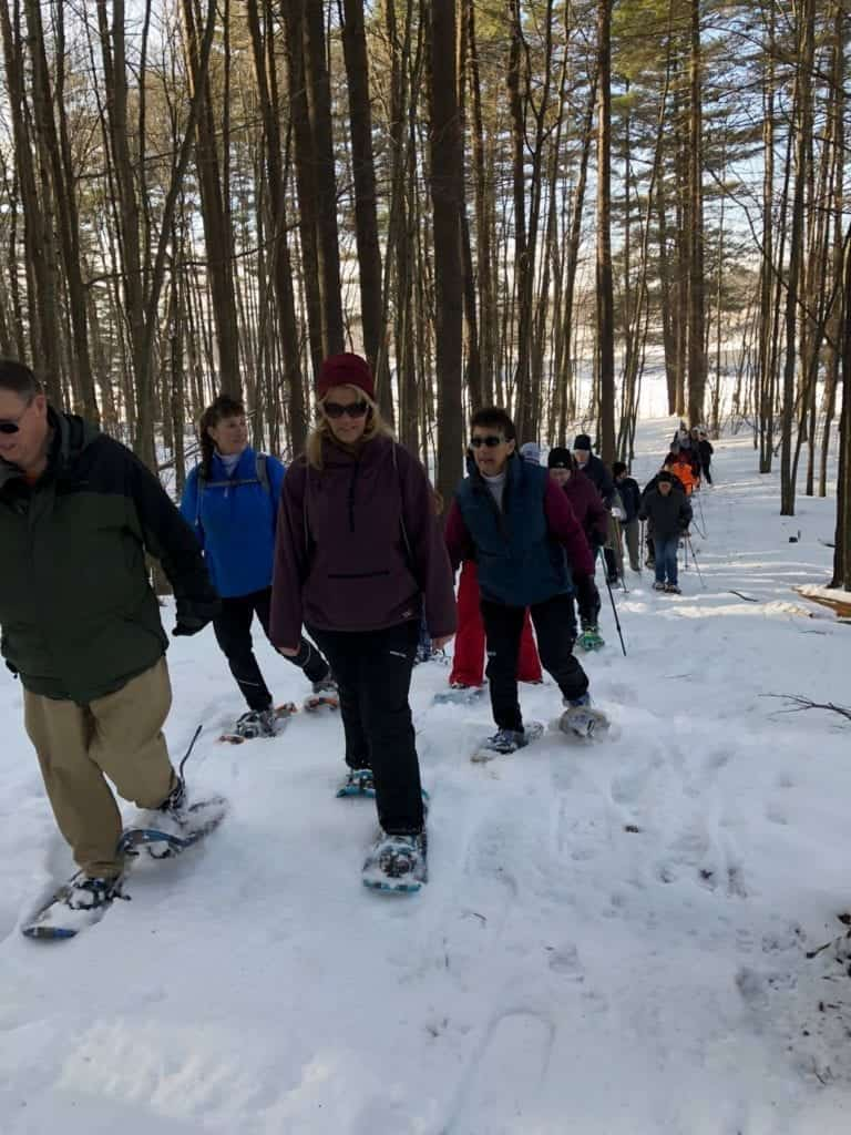 lewiston maine snowshoe 2018