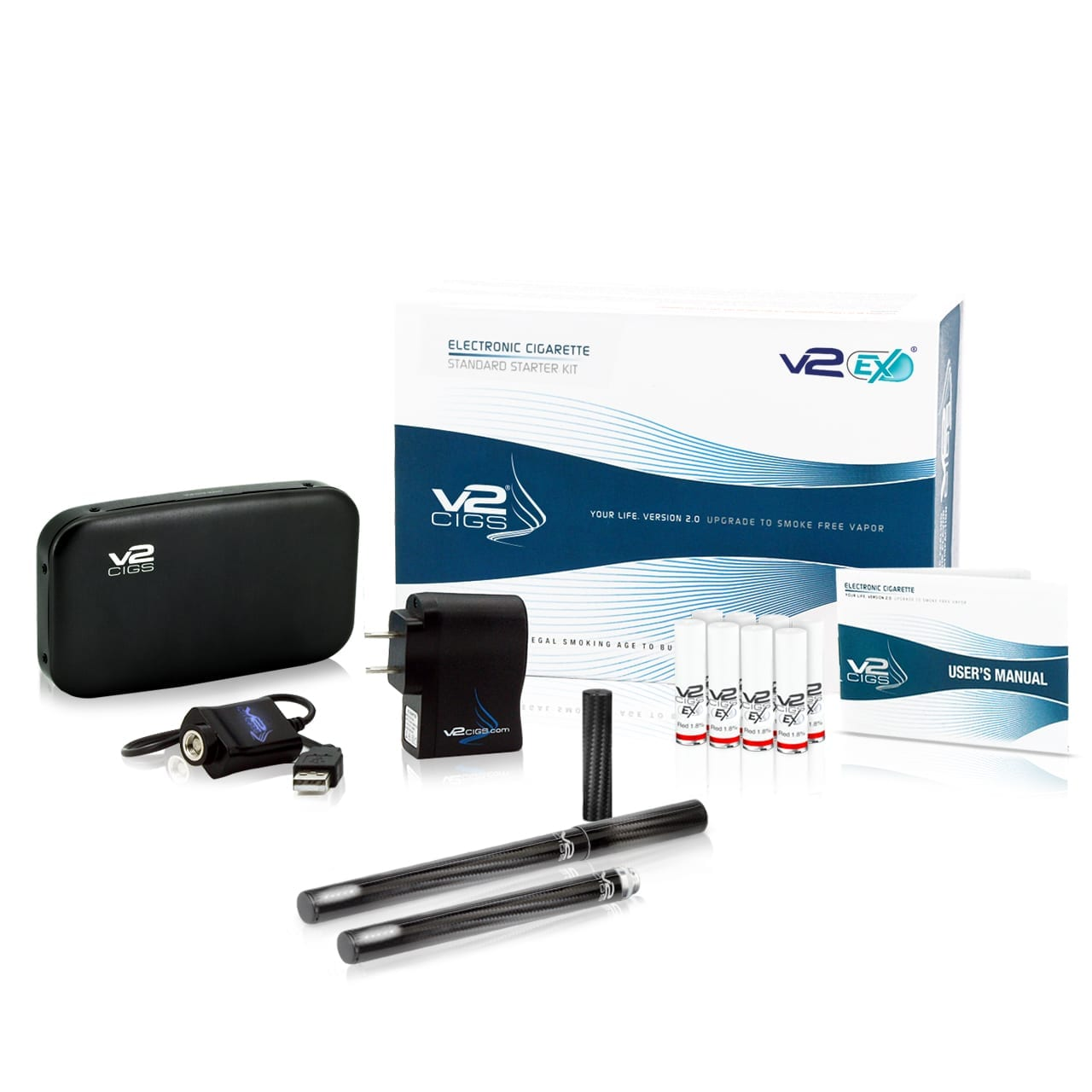 EX Series Carbon Fiber Standard Plus Starter Kit from V2 Cigs