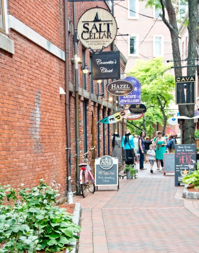 Downtown Portsmouth Boutique Shops