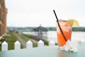 Drinks on the Waterfront at Adams Pub Quincy Boston