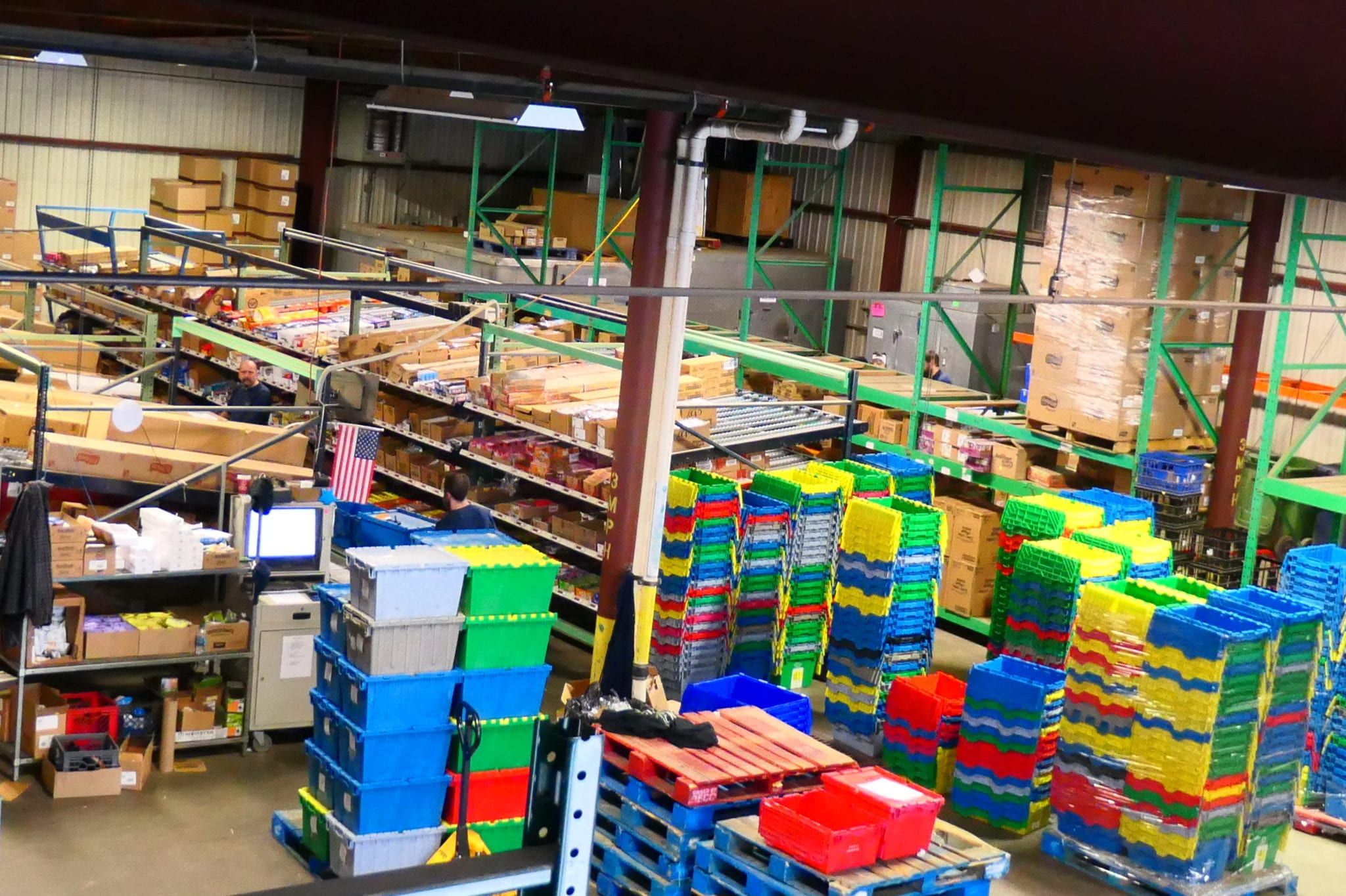 A fully modernized warehouse to supply our accounts with snacks and refreshments